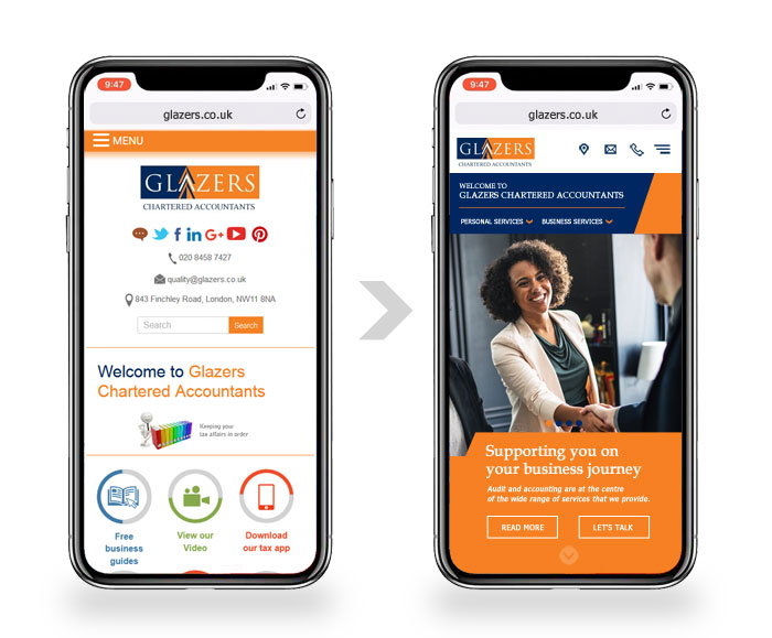 mobile website for accountants